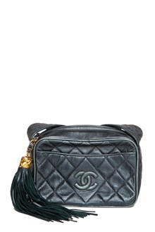 REWIND VINTAGE AFFAIRS Vintage Chanel metallica navy shoulder bag