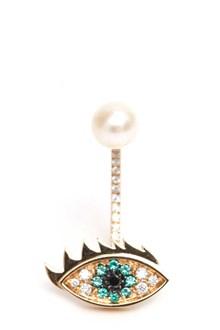 DELFINA DELETTREZ 'Eyes on me' piercing earring with pearl