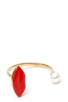 DELFINA DELETTREZ 'Lips' 9k ring