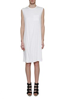 T by ALEXANDER WANG CLASSIC CREWNECK OVERLAP DRESS