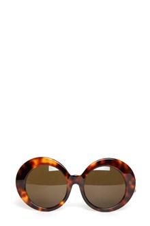 LINDA FARROW  tortoiseshell frame sunglasses