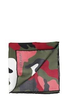VALENTINO GARAVANI Camouflage printed silk pochette
