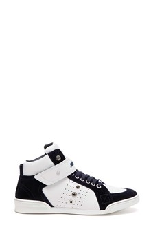 JIMMY CHOO 'Lewis ocu' leather sneakers with suede leather inserts