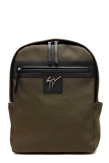 GIUSEPPE ZANOTTI DESIGN Backpack with leather inserts and metal logo