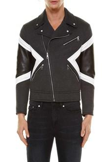 NEIL BARRETT 'Modernist' biker jacket with leather inserts