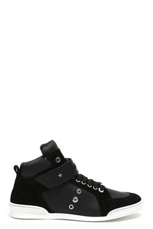 JIMMY CHOO 'Star' studded sneakers with tear strip