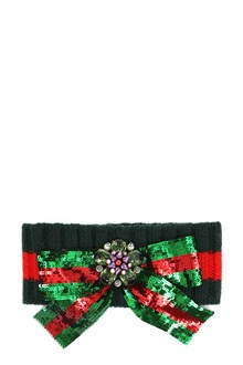 GUCCI Headband with flower and paillettes