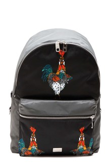 DOLCE & GABBANA 'cockerels' printed nylon backpack