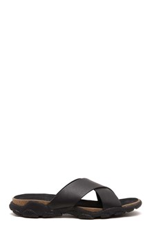 STELLA MCCARTNEY Leather crossed slippers by Stella McCartney: slipper with decorated sole