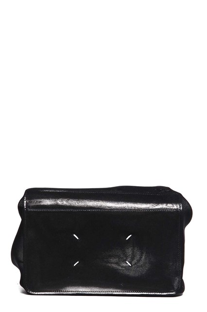 MAISON MARGIELA Leather clutch with ruffles