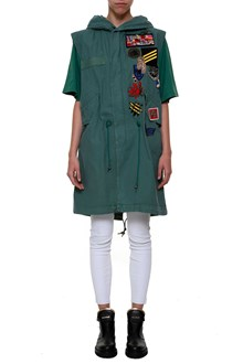 MR & MRS ITALY Sleeveless parka with patch