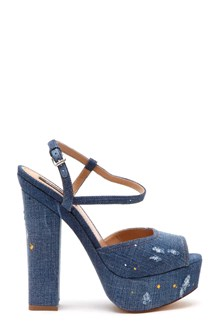 DSQUARED2 Denim Platform Ziggy Sandals