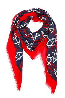 GUCCI 'GG ghost' scarf with stars print