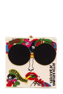 OLYMPIA LE-TAN 'Baxters' Squared embroidered clutch