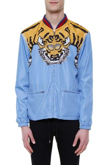 GUCCI Tiger printed nylon jacket