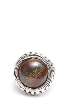 GIACOMOBURRONI Silver ring with decorated stone