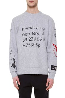LANVIN 'Semantic' printed oversize sweater