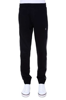 LANVIN sweatpants in 'second-hand' effect tissue with logo on left leg