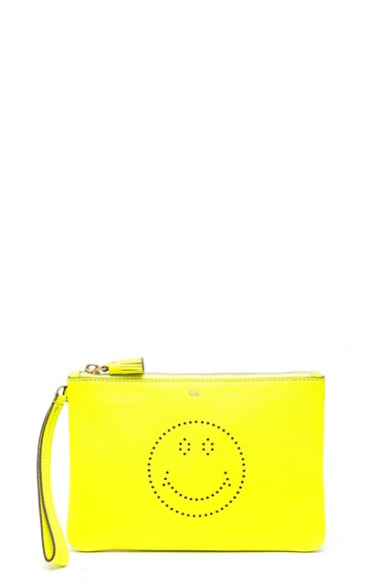 ANYA HINDMARCH 'Smiley' zip-top pouch