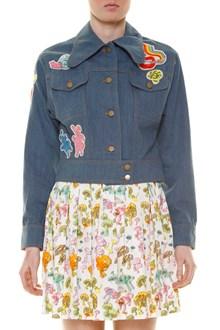 OLYMPIA LE-TAN 'Jacke flash' embroidered denim jacket