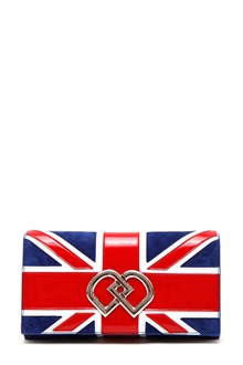 DSQUARED2 'flag' print chained clutch