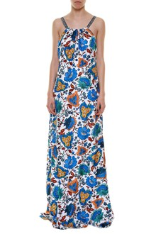 OSCAR DE LA RENTA Long sleeveless printed dress