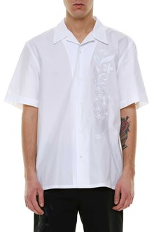 FENDI Short sleeved shirt with flower embroidery
