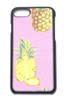 DOLCE & GABBANA pineapple printed cover in dauphine leather