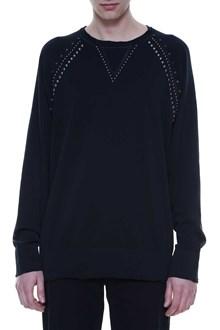 LANEUS Studded cotton sweatshirt