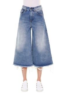 OFF-WHITE 'Capri' denim vintage wash jeans with 5 pockets