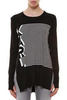 KARL LAGERFELD 'Karl' striped jersey with side split