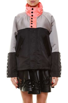 ALEXANDER WANG Oversize windbraker jacket with turtle-neck and buttons