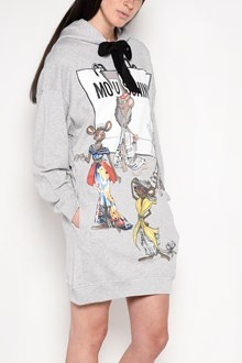 MOSCHINO 'Rat-a-porter' hooded minidress with waist and collar ribbon