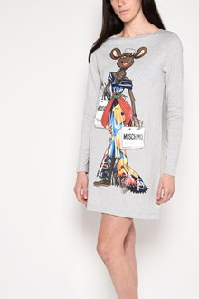 MOSCHINO 'Rat-a-porter' printed minidress with long sleeves