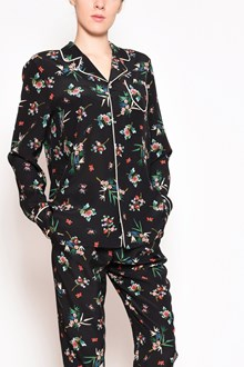 REDVALENTINO 'Wallpaper flower' silk pajamas shirt