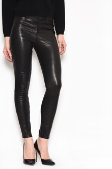 J BRAND Midrise leather skinny jeans with 5 pockets