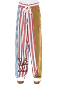 STELLA MCCARTNEY cotton pants with baggy patchwork, stripes and prints