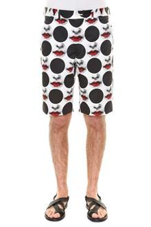COMME DES GARÇONS HOMME PLUS 'Ester' satin inkjet print shorts with polkadot print