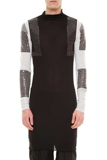 RICK OWENS Viscose cotton embroidered long sleeved shirt