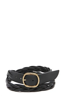 GUCCI Leather braided belt
