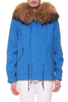 MR & MRS ITALY 'Palm beach' fur hooded short parka