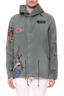 MR & MRS ITALY Mini Parka with tattoo accents