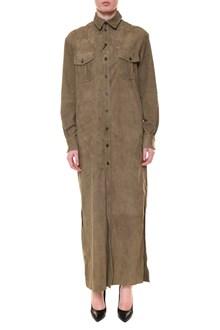 SIMONETTA RAVIZZA Long chamois coat