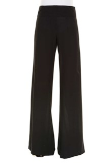 ANN DEMEULEMEESTER Large trousers with side split and belt