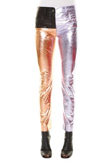 HAIDER ACKERMANN Leather patchwork trousers