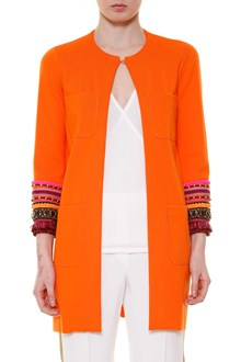 GIADA BENINCASA 'Clotilde' long jacket with applications on the sleeves