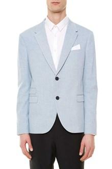 NEIL BARRETT Cotton decostructed blazer with buttons closure
