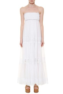 CHARO RUIZ IBIZA 'Zoe' long dress with lace inserts