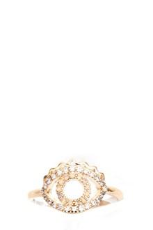 KENZO 'Mini eye' gold pleated ring. 2,30 GR