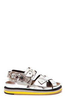 MAISON MARGIELA Mirror leather sandals with buckles